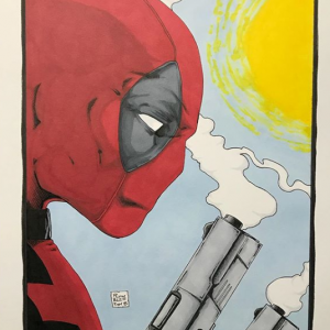 Print of Original art of Deadpool by Todd Plumblee