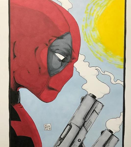 Print of Original art of Deadpool by Todd Plumblee