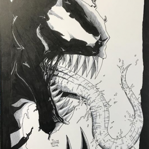 Print of Original Art of Venom by Todd Plumblee