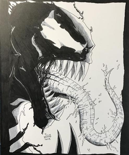 Print of Original Art of Venom by Todd Plumblee