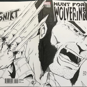 Hunt for Wolverine Sketch Cover by Todd Plumblee
